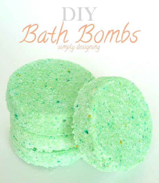 Pear Scented DIY Bath Bombs via Simply Designing