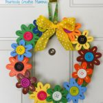DIY Flower Wreath from Fearlessly Creative Mammas