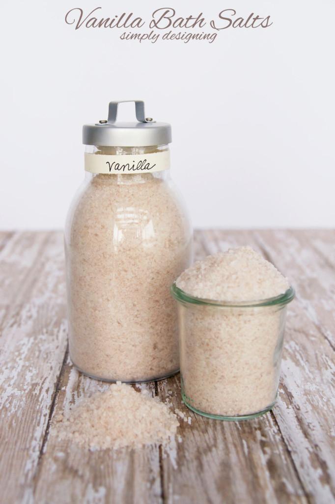 Vanilla Bath Salts via Simply Designing