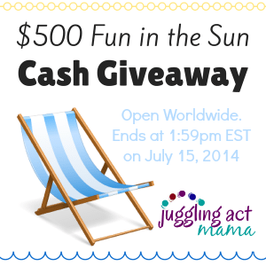 $500 Fun in the Sun Cash Giveaway