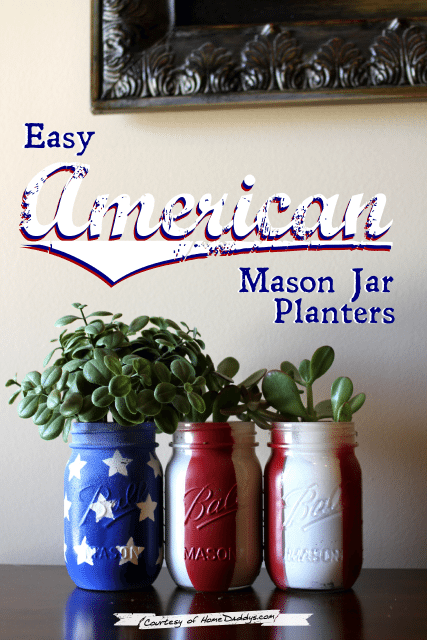 Easy American Mason Jar Planters from Sweet Bella Roos