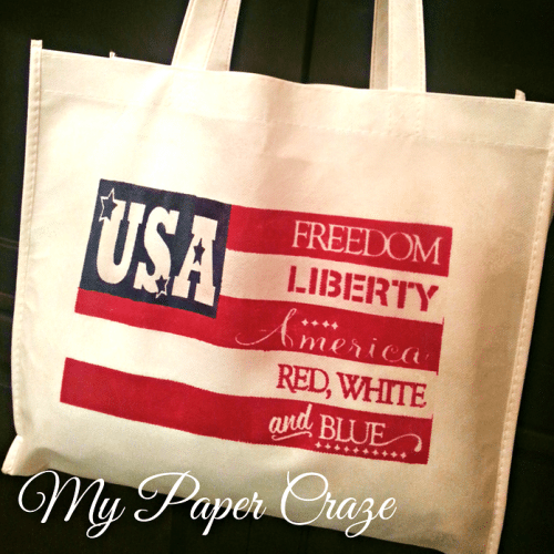 DIY Patriotic Tote from My Paper Craze