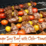Ginger Soy Beef with Chile Tomatoes via Juggling Act Mama
