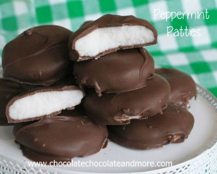 Homemade Peppermint Patties from Chocolate Chocolate and more-90a