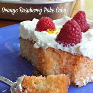 Orange Raspberry Poke Cake from Juggling Act Mama
