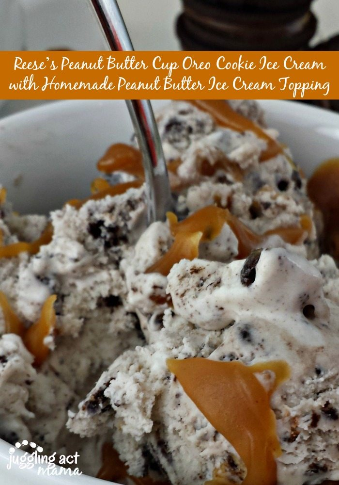 Reese's Peanut Butter Cup Oreo Cookie Ice Cream and Giveaway from Juggling Act Mama