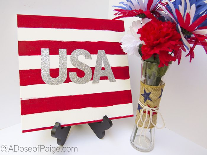 Easy DIY USA Canvas Display