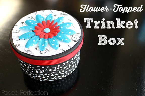 Flower Topped Trinket Box from Posed Perfection
