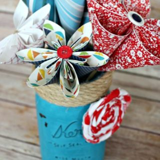 Patriotic DIY Paper Flowers from View from the Fridge as seen on Juggling Act Mama