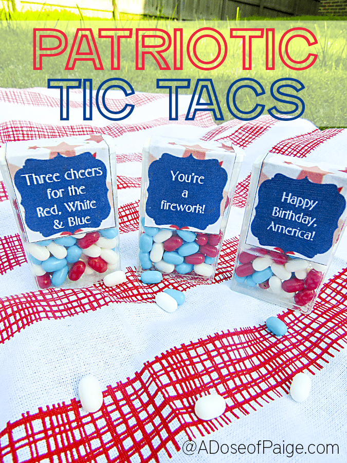 Patriotic Tic Tacs + A Free Printable from A Dose of Paige