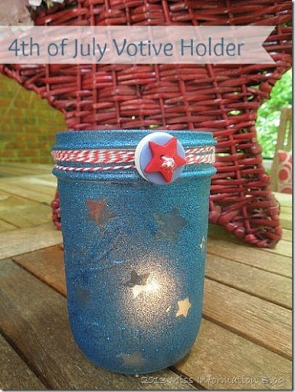 4th Of July Votive Holders from Miss Information