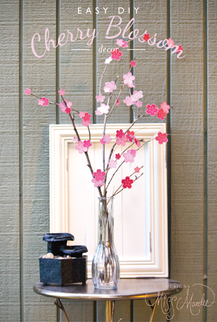 Easy DIY Cherry Blossom Decor