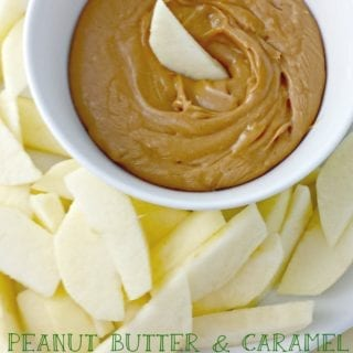 Peanut Butter & Caramel Apple Dip from Juggling Act Mama
