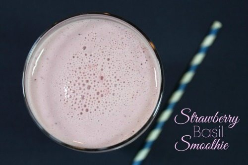 Strawberry Basil Smoothie