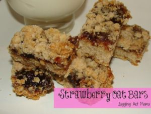 Starwberry Oat Bars from Juggling Act Mama