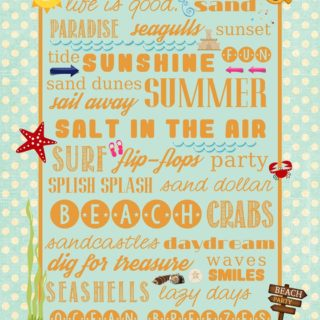 Beach Printable from Juggling Act Mama