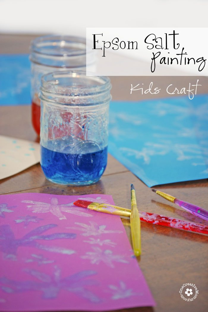 Wow your kids with Epsom Salt Painting! {They'll love the crystals that form as the paint dries.}