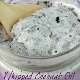 Whipped Coconut Oil Lavender Sugar Scrub www.jugglingactmama.com