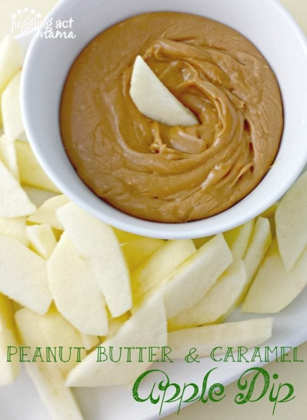 Super easy and so yummy! This Peanut Butter Caramel Apple Dip Recipe is awesome!