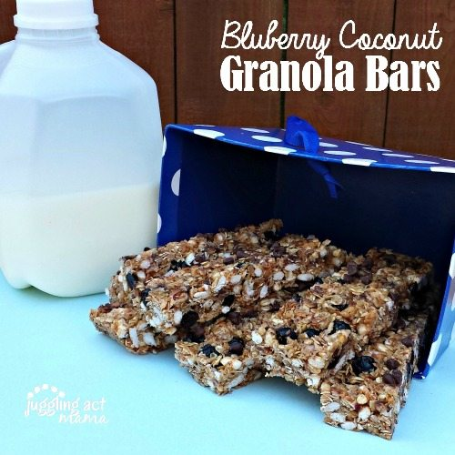 Blueberry Coconut Granola Bars #backtoschool #homemade