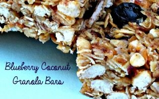 Healthy Granola Bar Recipe with Blueberries & Coconut