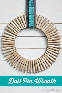 Doll Pin Wreath