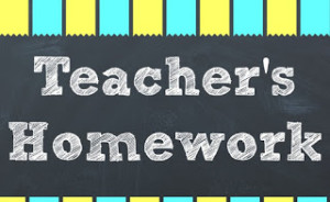 Teacher's Homework – Back to School Printable