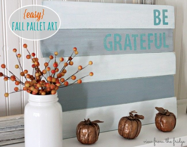 BE GRATEFUL PALLET ART