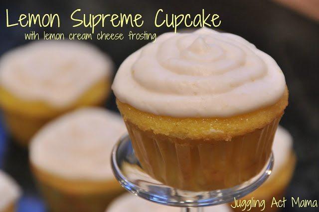 Lemon Supreme Cupcakes and Frosting #lemon #semihomemade