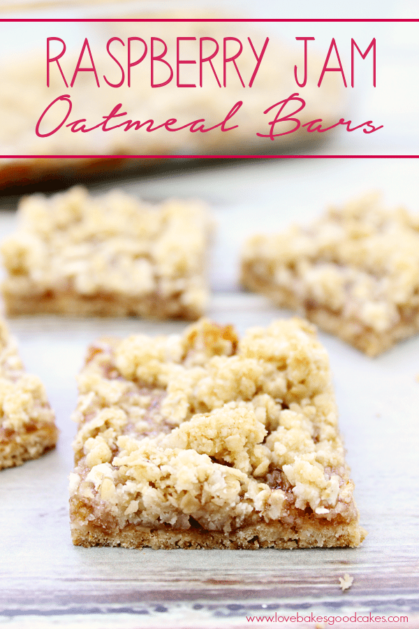 Raspberry Jam Oat bars are a quick and easy dessert or snack idea, and they made a great addition to any party or potluck. Plus, you can easily change up the flavor by changing the flavor of jam. via @jugglingactmama
