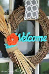 Easy 5 Minute DIY Fall Wreath   View From The Fridge for Juggling Act Mama