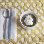 vegan chia pudding with vanilla and cinnamon