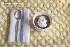 Vanilla Cinnamon Chia Pudding – Vegan and Dairy Free Dessert