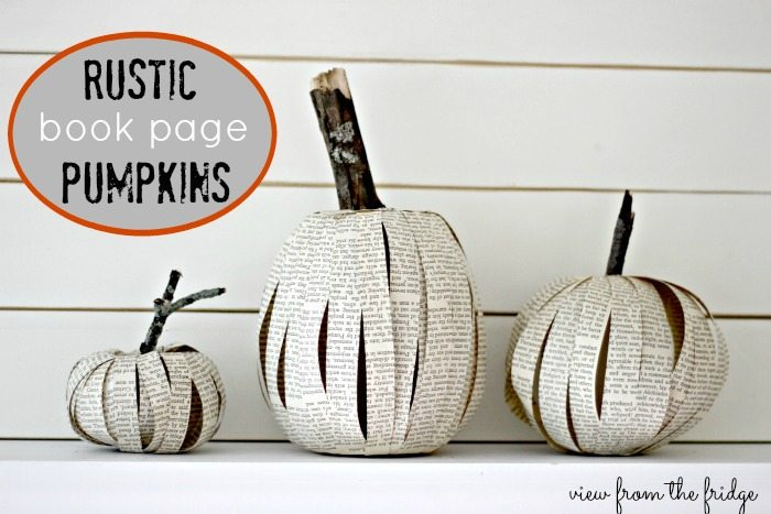 Book Page Pumpkins  |  View From The Fridge