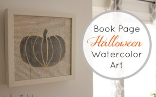 Book Page Halloween Watercolor Art