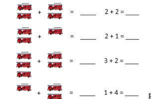 Fire Safety Math Worksheet K-1