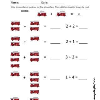 Fire Safety Math Worksheet