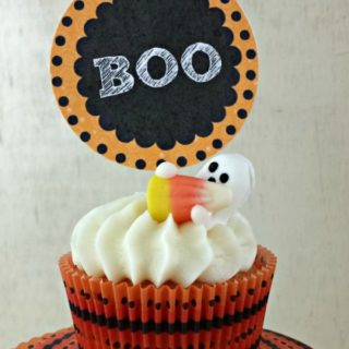 Ghost Cupcakes and Halloween Topper Printable