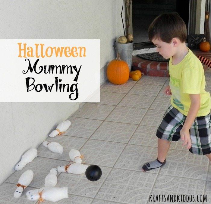 Halloween Mummy Bowling by Krafts and Kiddos