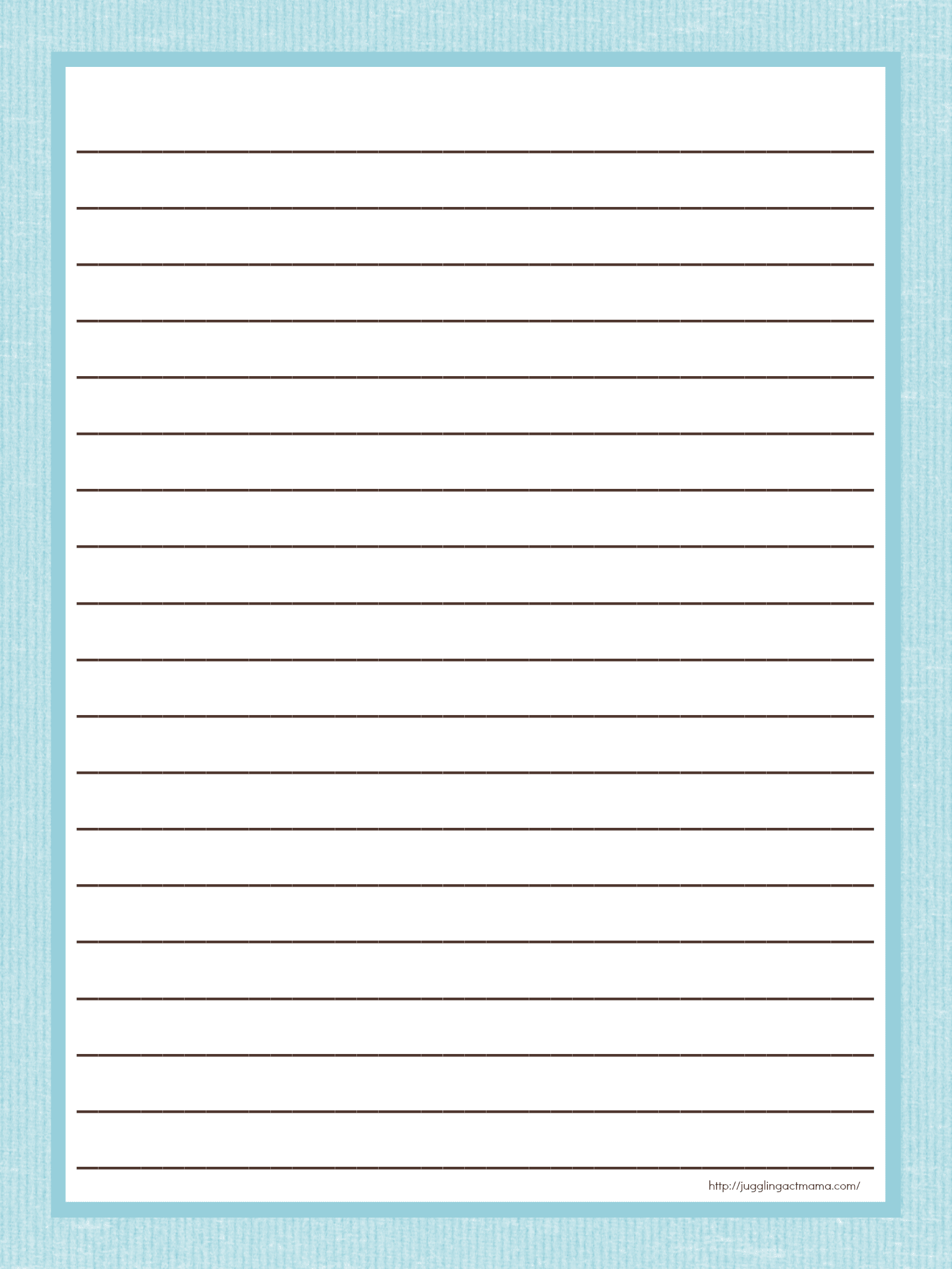 photo relating to Lined Paper Printable known as Coated Paper Printable against Juggling Act Mama - Juggling Act Mama