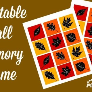 Printable Fall Memory Game