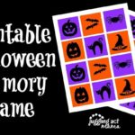 Halloween Memory Game Printable