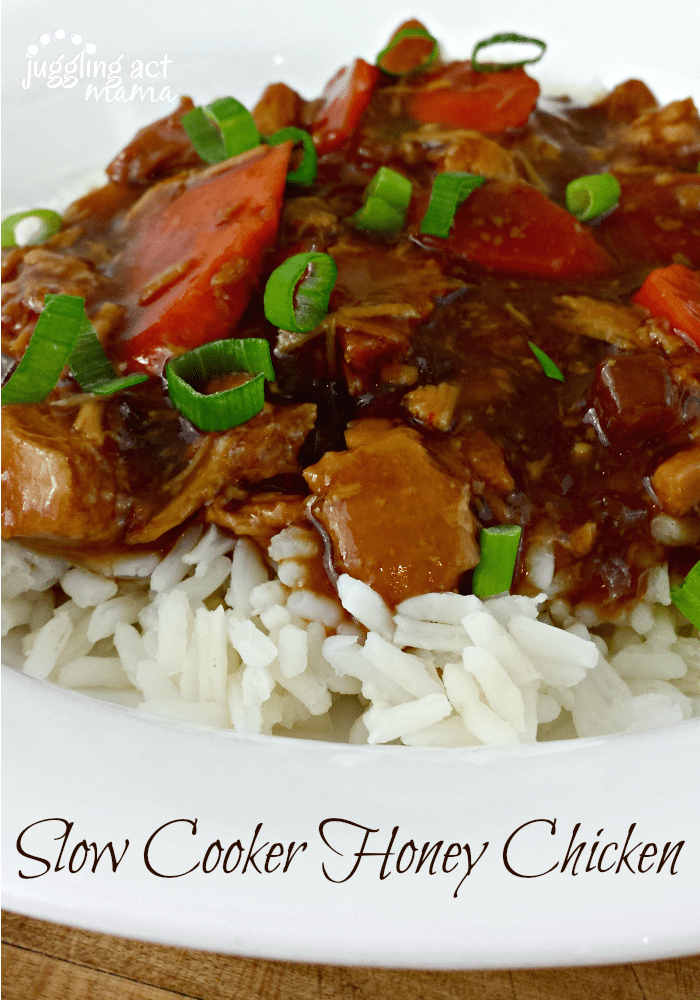 Slow Cooker Honey Chicken with Rice