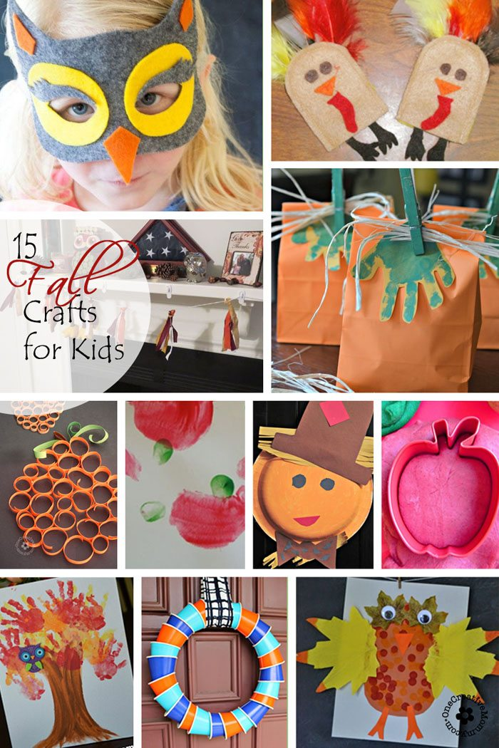 15 Fantastic Fall Crafts for Kids from OneCreativeMommy.com {Which one will be your new favorite?}