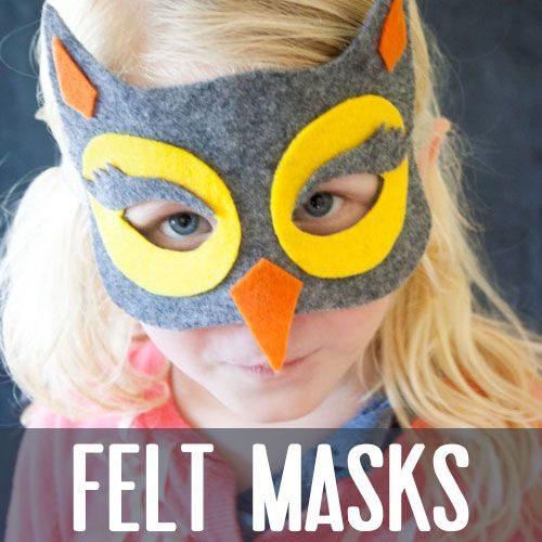 15 Fantastic Fall Crafts for Kids {Felt Masks from illistyle.com}