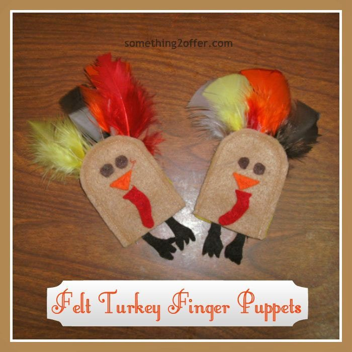 15 Fantastic Fall Crafts for Kids {Felt Turkey Finger Puppets from Something 2 Offer}