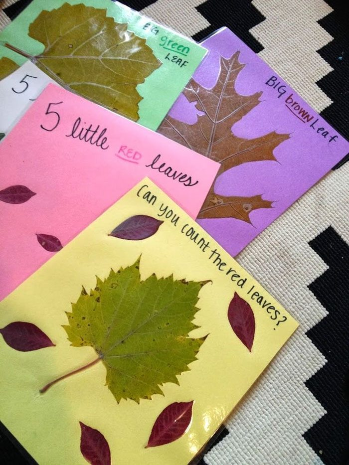 15 Fantastic Fall Crafts for Kids {Toddler Leaf Book from Songbirds & Buttons}