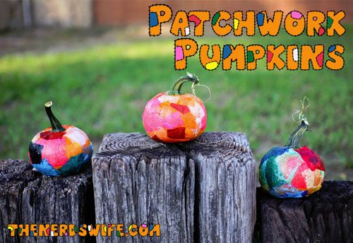 15 Fantastic Fall Crafts for Kids {Patchwork Pumpkin Toddler Craft from The Nerd's Wife}