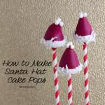How to make Santa Hat Cake Pops. An Easy Tutorial from @KarynPSB