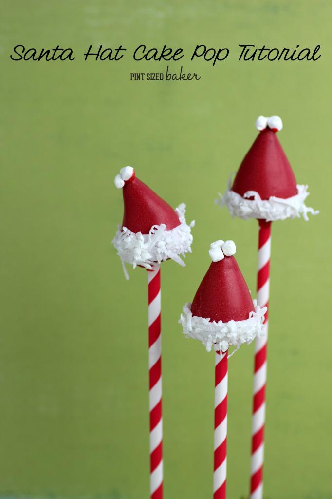 Perfect Stocking stuffers - Santa Hat Cake Pops.